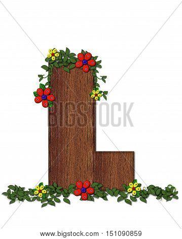 Alphabet Woodland Flowers L