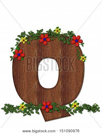 Alphabet Woodland Flowers Q