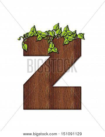 Alphabet Woodsy Z