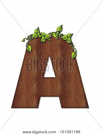 Alphabet Woodsy A