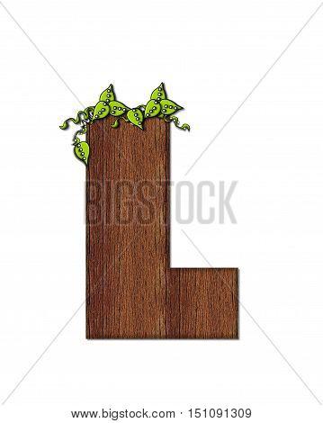 Alphabet Woodsy L