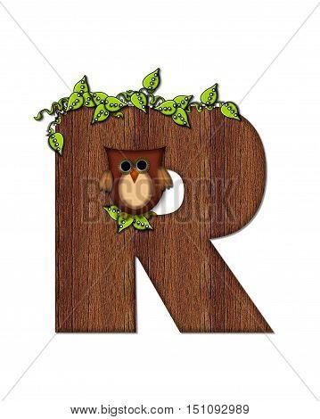 Alphabet Woodsy Owl R