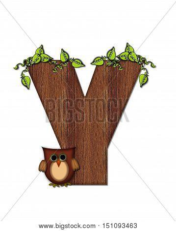 Alphabet Woodsy Owl Y