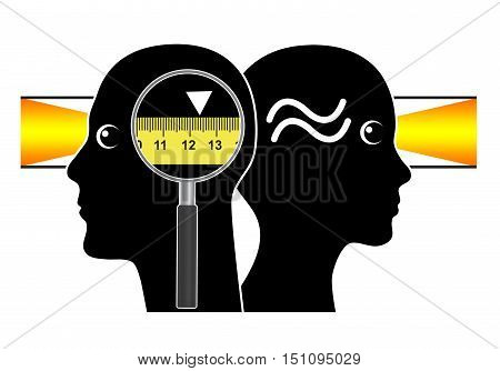 Seeing the World with different Eyes. Men love precise measurements whereas women prefer rough estimations