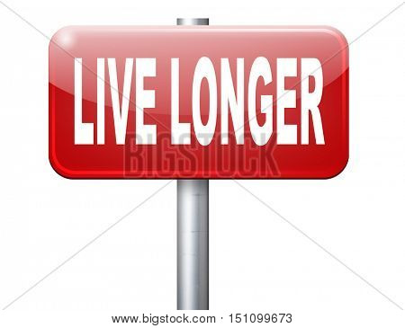 live longer, living a long healthy live using the fountain of youth and being eternal young 3D illustration