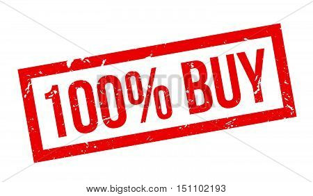 100 Percent Buy Rubber Stamp
