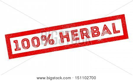 100 Percent Herbal Rubber Stamp