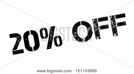 20 Percent Off Rubber Stamp