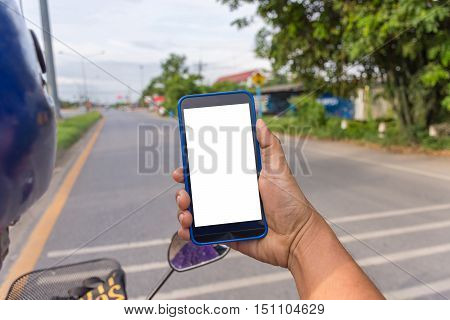 Person Hand Holding Smartphone