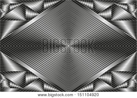 metal abstract background white black and gray colour. Silver shiny grayish-white metal