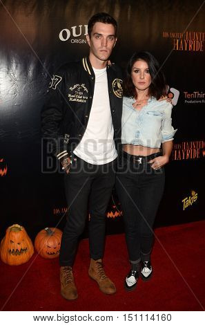 LOS ANGELES - OCT 9:  Josh Beech, Shenae Grimes at the Haunted Hayride 8th Annual VIP Black Carpet Event at the Griffith Park on October 9, 2016 in Los Angeles, CA