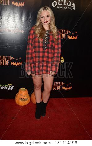 LOS ANGELES - OCT 9:  Natalie Alyn Lind at the Haunted Hayride 8th Annual VIP Black Carpet Event at the Griffith Park on October 9, 2016 in Los Angeles, CA