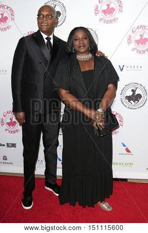 LOS ANGELES - OCT 8:  Samuel L. Jackson, LaTanya Richardson at the 2016 Carousel Of Hope Ball at the Beverly Hilton Hotel on October 8, 2016 in Beverly Hills, CA