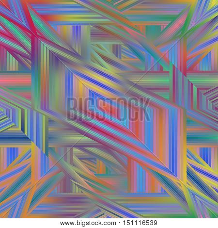 Geometric coloring pattern multicolour with shiny effect