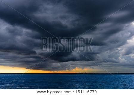 Sea Thunderstorm Cloud