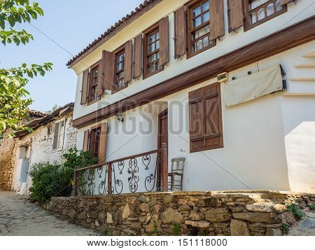 Sirince Selcuk Turkey - September 13 2016: Greek old town with modern renovated.