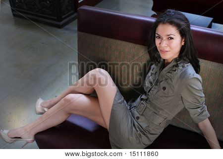 Young Woman On A Couch
