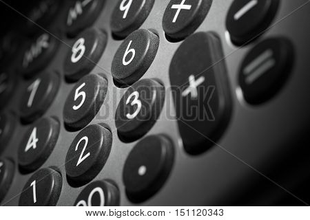 picture of a full frame numeric keypad detail