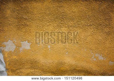 Chipped Peeling Paint, Orange Grunge Background Texture