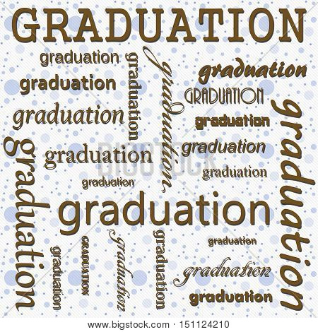 Graduation Design with Blue and White Polka Dot Tile Pattern Repeat Background that is seamless and repeats