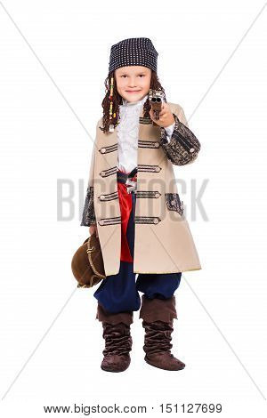 Boy Dressed As The Medieval Pirate