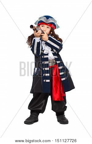 Little Boy Dressed As Pirate