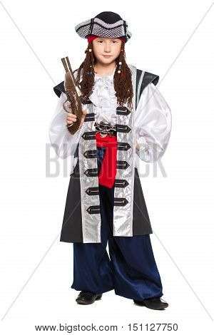Young Boy Dressed As Medieval Pirate