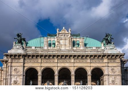 Vienna State Opera landmark and travel destination at the Ring Strasse
