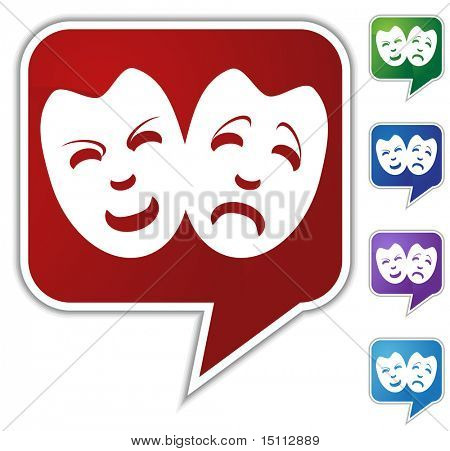 drama mask speech bubble