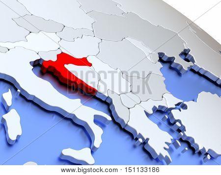 Croatia On World Map