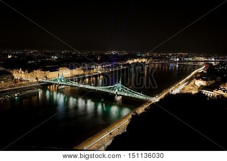 View of Budapest with the river Danube