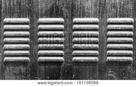 Metal refrigerator ventilator holes for hot air flow