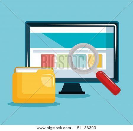 internet security concept flat icons vector illustration design