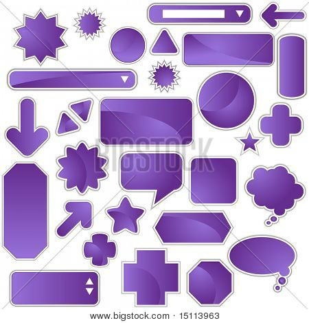 purple web icon set
