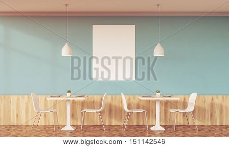 Sunlit Family Cafe With Green Walls