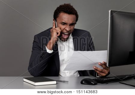 Angry Businessman From Africa