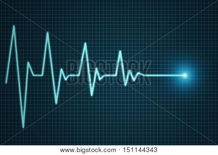 Heart beat line end of life illustration