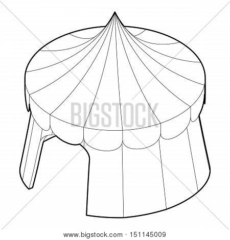 Circus tent icon. Outline illustration of circus tent vector icon for web