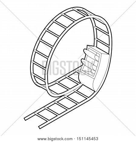 Rollercoaster icon. Outline illustration of rollercoaster vector icon for web
