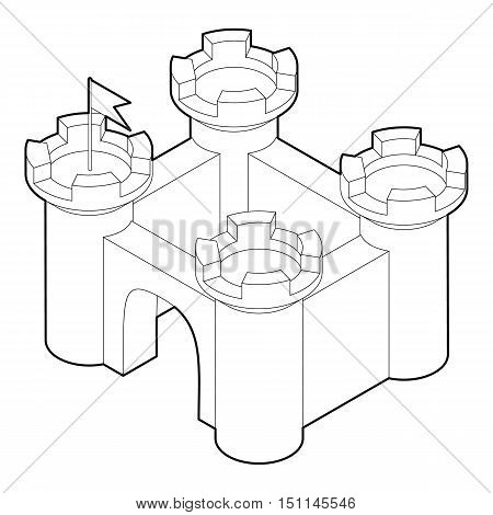 Castle icon. Outline illustration of castle vector icon for web