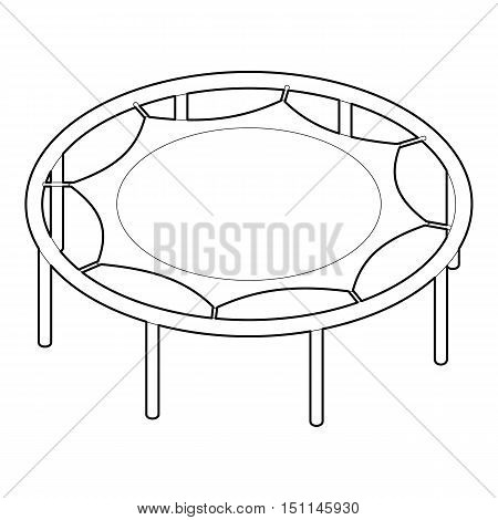 Trampoline jumping icon. Outline illustration of trampoline jumping vector icon for web