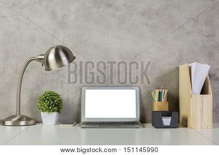 Blank White Laptop
