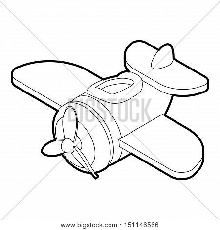 Toy plane icon. Outline illustration of toy plane vector icon for web