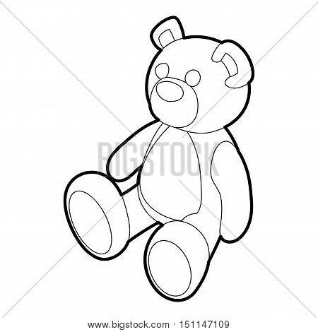 Teddy bear icon. Outline illustration of teddy bear vector icon for web