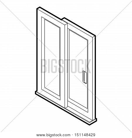 Sliding door icon. Outline illustration of sliding door vector icon for web