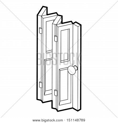 Folding door icon. Outline illustration of folding door vector icon for web