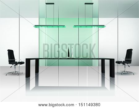 The modern interior of office, vector eps10