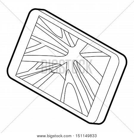 Navigator icon. Outline illustration of navigator vector icon for web