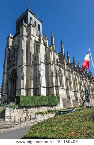 Church Saint Jacques in Lisieux, Normandy France.