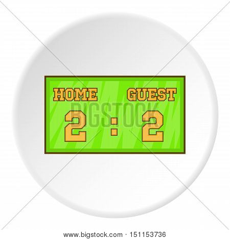 Scoreboard icon. cartoon illustration of scoreboard vector icon for web